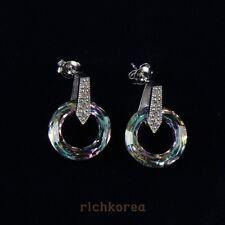 New Fashion swarovski 925 Sterling silver earrings wit GENUINE TOP GIFT by korea