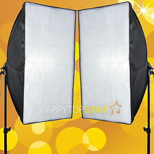 2 X Photo Studio 50 x 70cm Bulb Tube Swivel E27 CFL Adapter Reflection Soft box