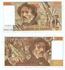 100 FRANCS DELACROIX de 1978   W.  8