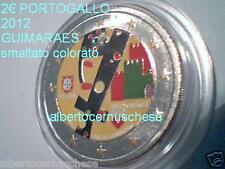 2 euro 2012 PORTOGALLO colorato color farbe cor Guimaraes Guimares Portugal