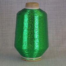 Verde Lurex brillo metálico de hilados - 500 Gramos De Cono-Libre 1st Class Post * Nuevo *