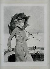 gravure eau-forte Belle Matinée de Louise Abbéma gravée par Toussaint sur Chine