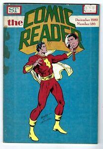 - -> The COMIC READER #186 ... Dec, 1980 ... Black Lightning/Shazam covers