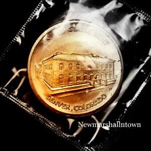 1982 1983 Denver Mint Medallion in Original Cellophane Souvenir Mint Set 2019 12