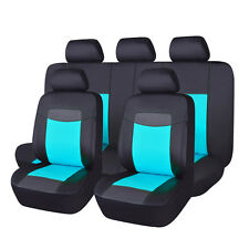 Delux PU leather car seat covers car seat protectors univeral water blue SUV VAN