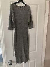 River Island Grey Bodycon Dress Size 12