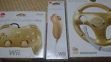 R02-88 New! Club Nintendo Japan Gold Wii Classic Controller PRO Nunchuck Handle