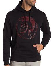 NWT DIESEL Cotton Blend LOGO Fleece Sweatshirt Hoodie Size XL