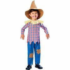 Boys Scarecrow Costume Child Fancy Dress Kids Book Day Wizard of Oz 7-8yrs
