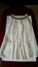Italian Designer Paola Perrone Top with Rhyme Stones, Size 6