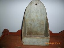 Antique Primitive Robin's Egg Blue Wall Box aafa
