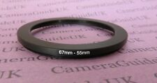 67mm-55mm Male-Female Stepping Step Down Filter Ring Adapter 67-55
