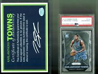 Karl-Anthony Towns Signed 2015 Panini Prizm #328 Auto Rookie RC PSA/DNA W/ COA