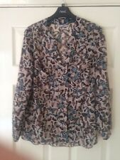Tu long sleeved Butterfly  Blouse size 10 VGC