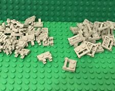 Lego 25 Light Bluish Gray 1x2 Plate W/ Clips And 25 W/ Closed Ends Handle (50pc)