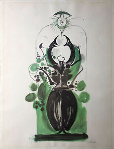 Graham SUTHERLAND 1969 Coléoptère avec ampoule original hand signed lithography
