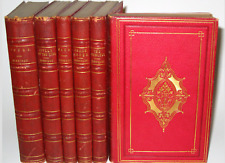 LEATHER Set;Works ALFRED TENNYSON!Poetry Complete FIRST EDITION(1869!) RARE!Gift