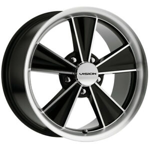 "Vision V324 Dazzler 17x9 5x4.5"" +24mm Black/Machined Wheel Rim 17"" Inch"
