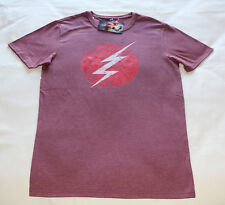 DC Comics The Flash Logo Mens Printed Short Sleeve T Shirt Size XXS New