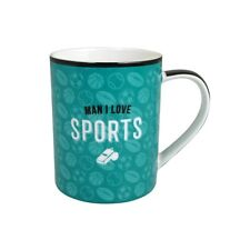 53551 MAN I LOVE SPORTS NEW BONE CHINA 300ML COFFEE TEA MUG CUP