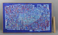 1970s Large Authentic, FREDERICK M FAILLACE Geometric Abstract Acrylic Painting