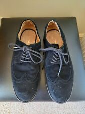 RALPH LAUREN POLO  Men's Black Suede Brogue Shoes   Size 7