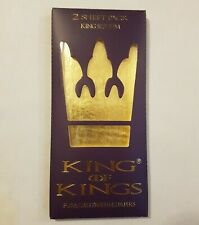 2 Sheet Pack of king size 24kt Gold Rolling Papers by King of Kings. Like shine