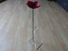Torre di Londra Poppy STAND Poppy Display Stand Acrilico Trasparente Perspex