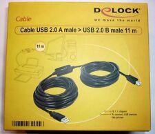 USB 2.0 Druckerkabel 11m Aktiv Delock 82915 für CANON EPSON Brother HP Drucker