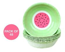 More details for strong paper bowl watermelon design eco-friendly perfect for summer garden party