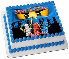 NINJAGO    REAL EDIBLE ICING  CAKE TOPPER PARTY IMAGE FROSTING SHEET