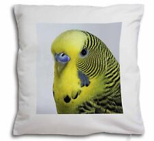 Yellow Budgerigar, Budgie Soft Velvet Feel Cushion Cover With Inner P, AB-51-CPW