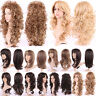"28"" Colorful Dyeing Two Tone Heat Resistant Synthetic Hair Costume Full Wig USA"