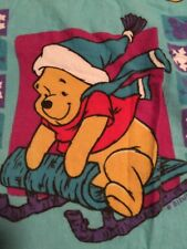 WINNIE THE POOH WINTER TWIN 2-piece Flat And Fitted Fleece  SHEET SET