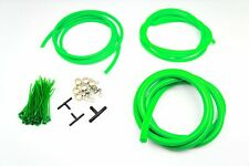 Silicone Vacuum Hose Assorted GREEN Kit 3/4/8mm Clamp set Fit Mitsubishi
