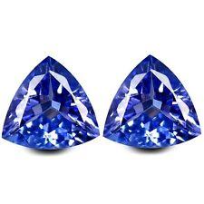 HKD CERTIFIED TANZANITE : 1,45 Ct Blau Violett Tansanit Pärchen Augenrein