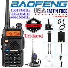 New Baofeng UV-5R III UHF VHF Tri-Band Two Way Ham Radio Walkie Talkie US