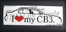 I love my CB3 Sedan 90-93 Sticker decal JDM Honda accord