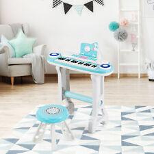 37-Key Kids Piano Keyboard Set Electronic Organ Light w/ Microphone & Stool
