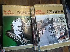 Vinyles Grands musiciens chefs d'oeuvre de l'art lot  15 numéros livre disque