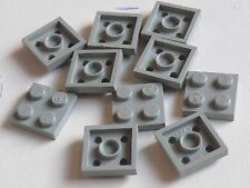 Lego 10 plates Gris clair set 6399 1818 6975 / 10 old light grey plates