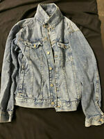 H&M L.O.G.G. Men's Jean Jacket Denim Utility Cotton Blue Size Medium