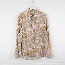 Vintage Crazy Print Patterned Long Sleeved Shirt Size Mens XXL