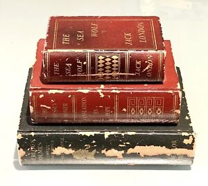 Vintage Antique Decorative Wood Faux Books Storage Decoy Home Decor Safe Boxes