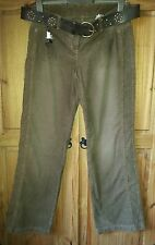 Next maternity  corduroy Trousers Size 10 Long with belt  - BNWT