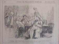 WW1 1915 Croix Rouge infirmière dans cantine punch Cartoon 24 novembre