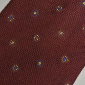 Burgundy Foulard Silk Tie