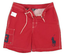 NEW Polo Ralph Lauren Swim Shorts (Bathing Suit)!  Sm  *Big Pony*  Weathered Red