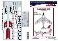 1/48 Avon Sabre Aerobatic Teams 'Black Panthers' Decals