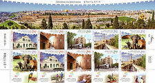 Israel 2016 MNH Tourism in Jerusalem 10v M/S Lions Elephants Buildings Stamps